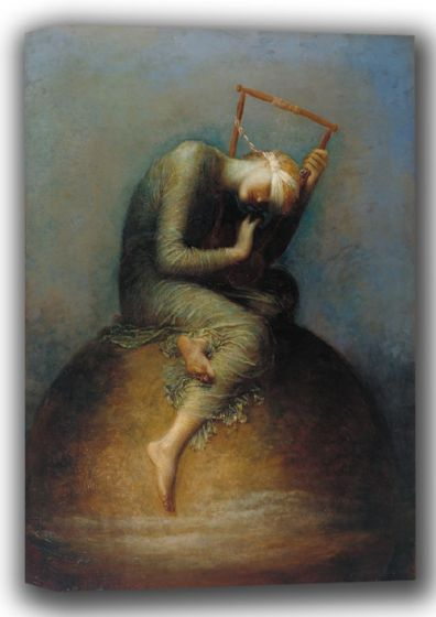 Watts, George Frederick: Hope. Fine Art Canvas. Sizes: A4/A3/A2/A1 (001735)